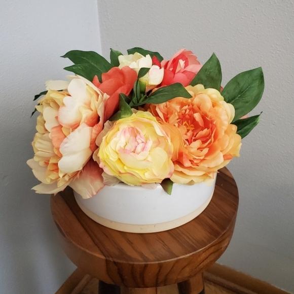 Threshold Peony tabletop floral arrangement